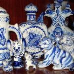 Beautiful Gzhel porcelain