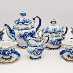 Tea set. Beautiful Gzhel porcelain