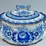 Soup bowl. Gzhel