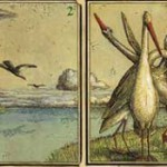 Birds depicted on playing cards Eisbergfreistadt