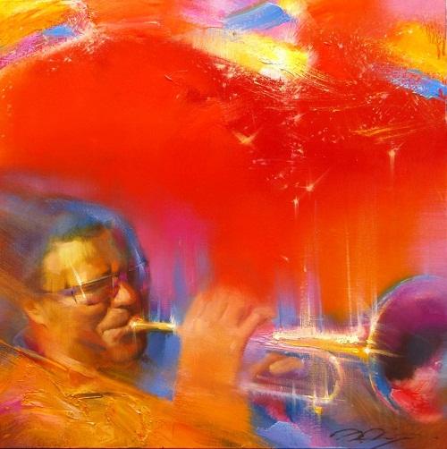 Jazz paintings by Denis Oktyabr