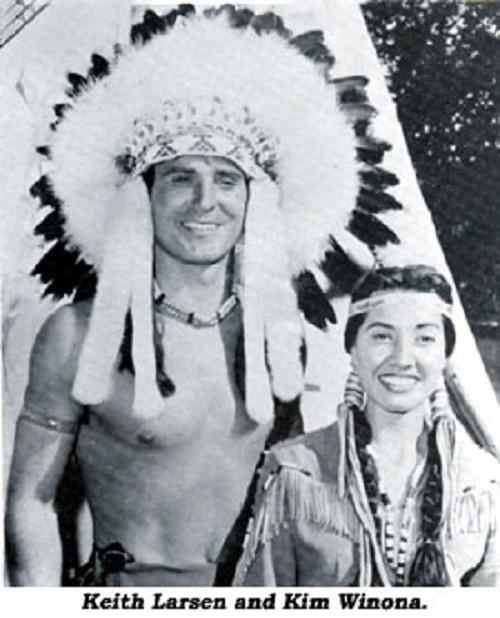 Keith Larsen and Kim Winona
