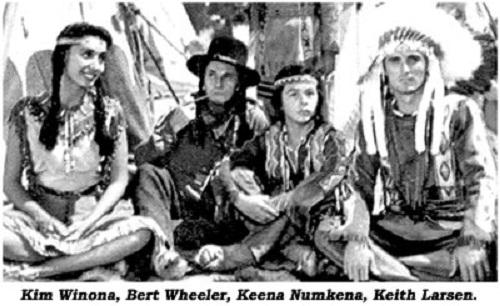 Keith Larsen (right) and Kim Winona (left), Bert Wheeler, Keena Numkeena