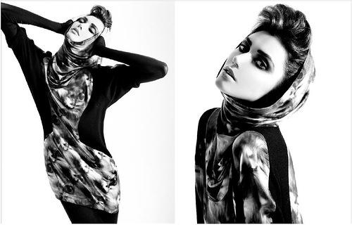 Salvatore Ferragamo. Russian fashion model Ksenia Kahnovich