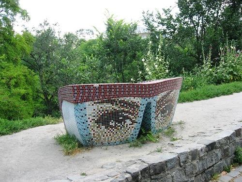Landscape alley in Kiev