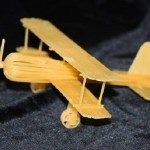 Closeup – helicopter. Macaroni sculpture by Russian creative designer Sergei Pakhomov