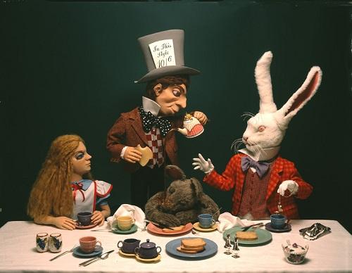 Fabulous mechanical sculpture by Ellen Rixford Studio. Mad Tea Party from Alice in Wonderland
