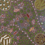 Unique Dot painting by Australian artist Margaret Davis Kemarre