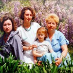 Maria Sharapova, year 1991, with mother Elena, second left, grandmother, first from the right, and a female relative in Sochi, Russia