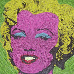 Marilyn Monroe by Andy Warhol from chocolate dragees