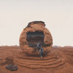 Human life on Mars – photo and sculptural installation by Richard Selesnick and Nicholas Kahn