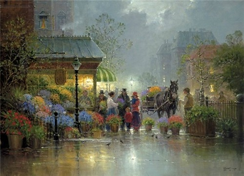 Gerald Harvey Jones painting rain