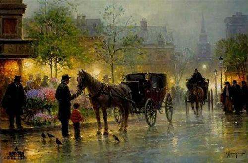 Beauty Will Save Gerald Harvey Jones Painting Rain