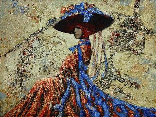 Dipinto di artista russo Vladimir Ryabchikov