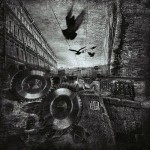 Doves. Black and white St. Petersburg by Russian professional photographer Gennadi Blokhin