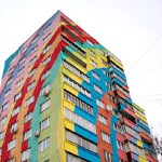 Beautiful architecture with painted houses