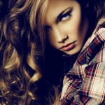 Brown-haired model. Photoart by Russian professional fashion photographer Daria Zaitseva