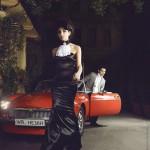 A lady in a black dress. Photographer Daria Zaitseva
