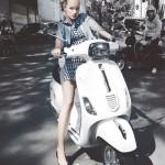 On a motorbike. Photoart by Daria Zaitseva