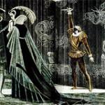 Book illustration of Shakespeare's Hamlet