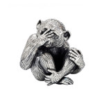 Small Silver 'See No Evil' Monkey Sculptureю $1,235