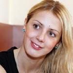 Blonde athlete Stanislava Komarova