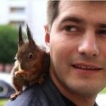 Taxi squirrel Masik and Pyotr Pankratov