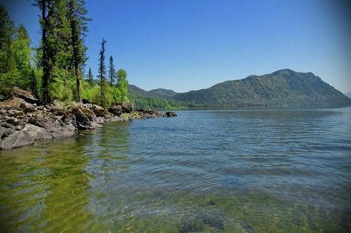 Teletskoye the golden lake in Altai