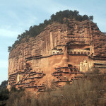 Masterpiece of cave architecture – The Maijishan Grottoes. Gansu Province, China