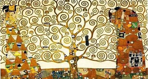 The Tree of Life 1909 painting by Austrian symbolist painter Gustav Klimt