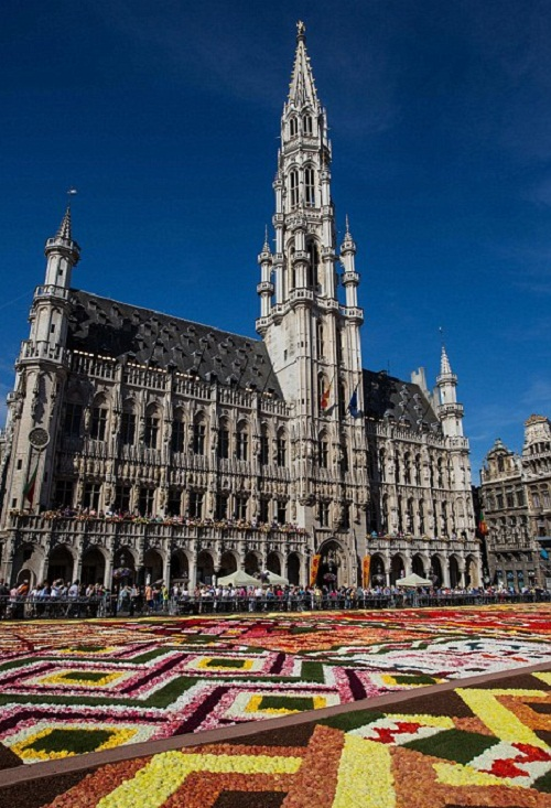 The flower carpet on the Grand-Place of Brussels