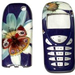 Mobile phones decorated with traditional Khokhloma painting