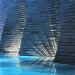 spa complex with pools of different temperatures. Tschuggen Grand hotel in Arosa, Switzerland