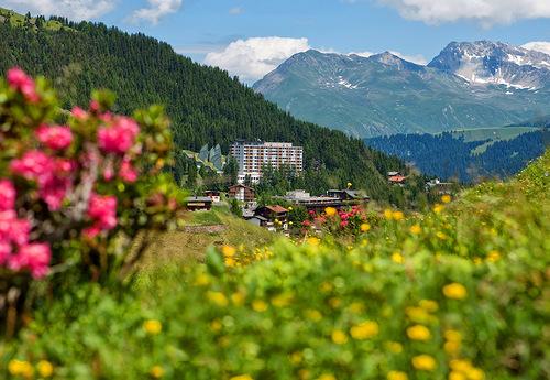 Tschuggen Grand hotel in Arosa, Switzerland