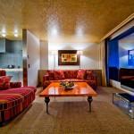 One of the rooms in Tschuggen Grand hotel in Arosa, Switzerland