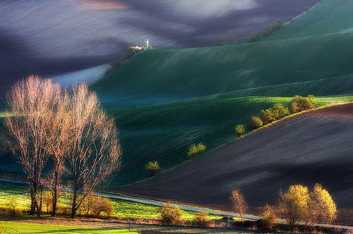 Tuscan and Moravian Landscapes by Polish photographer Marcin Sobas