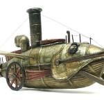 Beautiful steampunk art by Russian mixed-media artist Vladimir Gvozdev