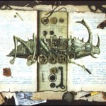 Beatle. Surreal steampunk by Russian mixed-media artist Vladimir Gvozdev