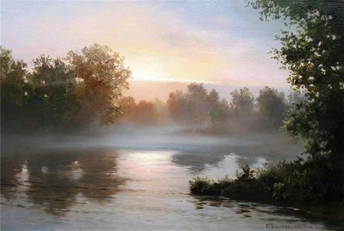 Landscape transparency in Vyacheslav Khabirov's art