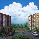 Residental area. Realistic illustrations by Russian self-taught artist Igor Savchenko