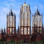 Magnificent Moscow architecture in illustrations by Russian self-taught artist Igor Savchenko