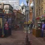 Scene of Arbat street. Artist Igor Savchenko
