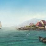 Sea shore. Artist Igor Savchenko