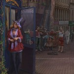 Street musicians. Realistic illustrations by Russian self-taught artist Igor Savchenko