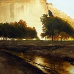 Sunset. Watercolor. Photo realistic landscapes by American artist Robert Highsmith
