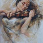 Passionate musician. Painting by Victoria Stoyanova
