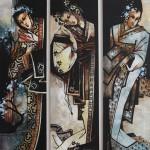 Japanese motif. Painting by Victoria Stoyanova