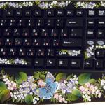 Blue butterfly keyboard