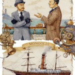 Traveling to Mongolia. Around the World in 80 Days (on adventure novel by the French writer Jules Verne). Illustrated by Leo Kaplan