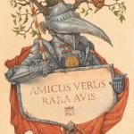 Amicus verus rara avis – A true rare bird. Illustrator Leo Kaplan